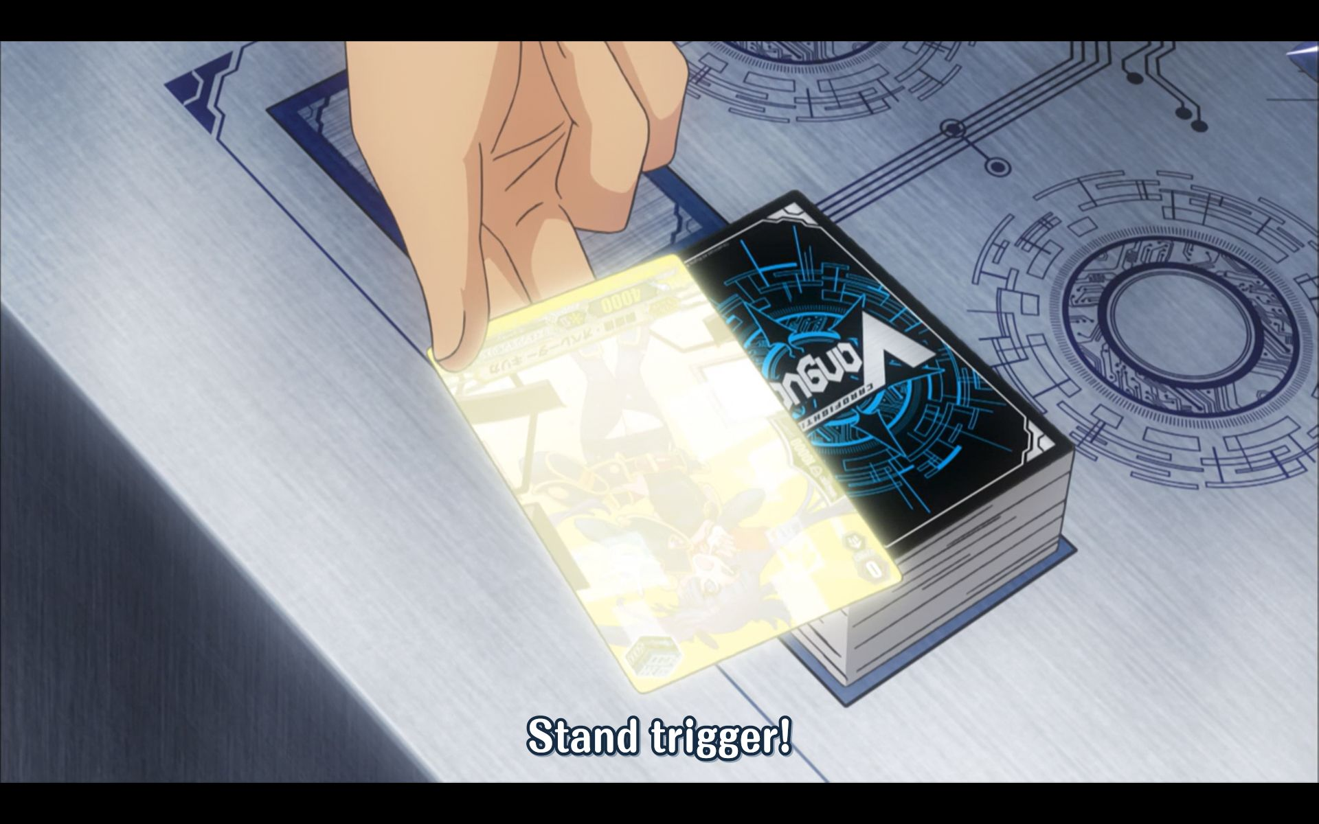 Spotted in the wild: A stand trigger card!